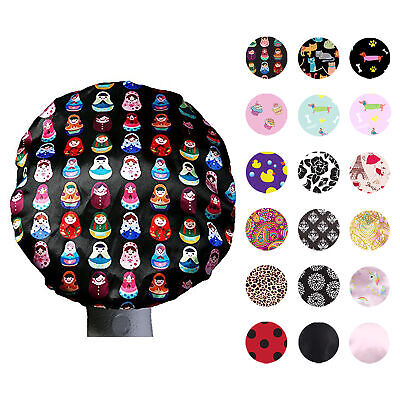 Dilly's Collections Luxury MICROFIBER Lined Shower Caps Hair Care Adults / Kids
