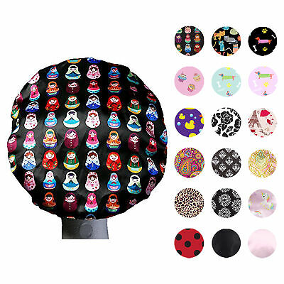 Dilly's Collections Premium Microfiber Lined Shower Cap Hair Care Adults / Kids