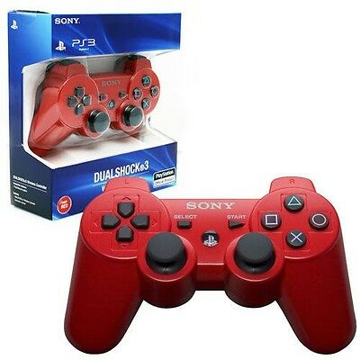 Sony Playstation Ps3 Sixaxis Dualshock Wireless Controller Nuovo Rosso Originale