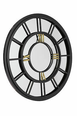 Large Wall Mirror Stunning Industrial Antiqued Clock face style garden
