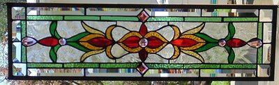 Stained Glass Window Hanging 28 X 8 1/4""