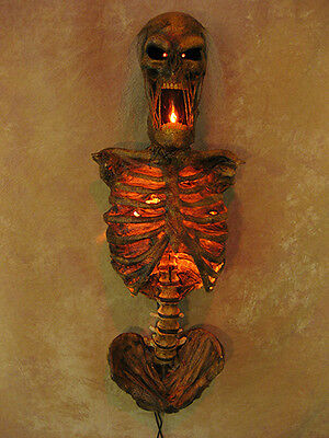 Torso of Terror Sconce w/ Red LED Eyes Life-Size, Corpse, Halloween Prop, NEW