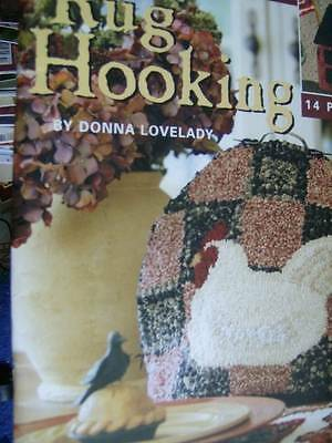 Teach Yourself Rug Hooking Craft Book By Donna Lovelady-14 Projects- Rooster/Hou