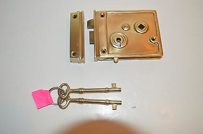Russwin Ship Cabin Door Lock Brass W/2 KEYS