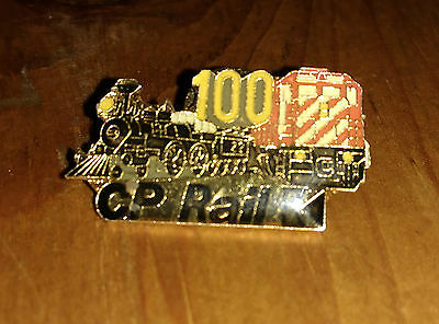 100 Anniversary CP Rail System Pin Tie Tack Advertising