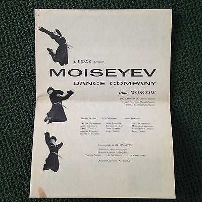 1961  MOISEYEV DANCE CO FROM MOSCOW Dance Theater Program