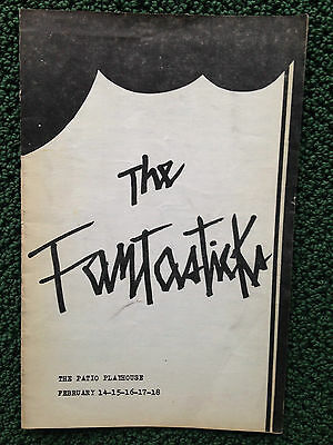 The Fantasticks Patio Playhouse Theatre Program Joe Amil Paul Chapman J Greely