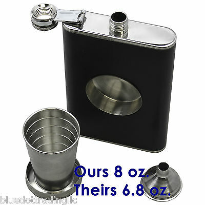 Whiskey Pocket Hip 8 oz. Stainless Flask for Wedding Groomsmen or Bachelor Party