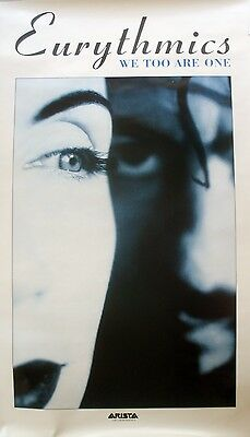 Rare Eurythmics We Too Are One 1989 Vintage Music Record Promo Store Poster