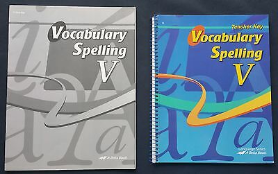 Abeka Vocabulary Spelling Poetry VI Test/Quiz book (12th grade)