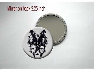 "Orphan Black BBC TV Show Tatiana Maslany SciFi Clones 2.25"" Pocket/Purse Mirror"
