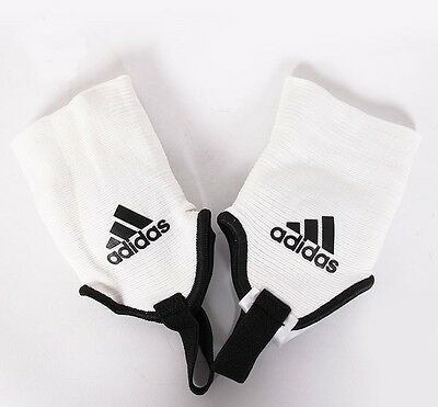 [Adidas] Dual sided White Brace Shield Ankle Guard Protector for Soccer Player