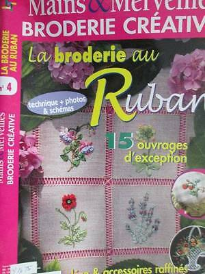 Mains & Marveilles Broderie Creative Au Ruban #4-15 Designs-French Ribbon Em