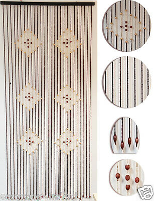Natural Bamboo Beaded Curtain(SI-BC006) Doorway 6 Diamonds Room Divider Screen
