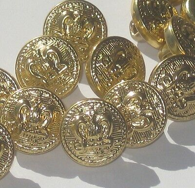 set 14 Military style vintage new Eagle on Anchor fancy suit cuff buttons 1/2""