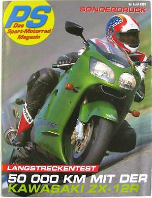 KAWASAKI ZX-12R - Motorcycle Sales Brochure - Jul 2001 -#PS 7/2001 - German