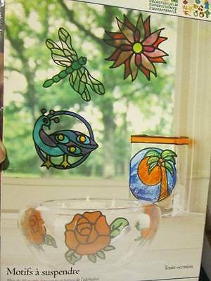 Gallery Glass Stained Glass Cling Patterns All Occasion #16413- 50+ Motifs & ABC
