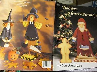 Holiday Heart-Warmers Painting Book-Jernigan-Witches/Santas/Snowmen/Gingerbread