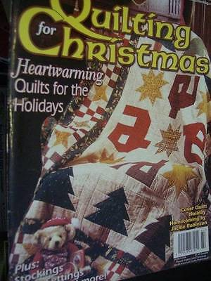 Quilting For Christmas Winter 2001 Magazine-Sunbonnet Santa/Holy Cross/Winter Ch