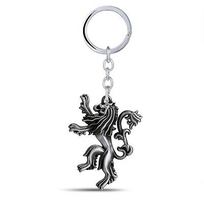 Game of Thrones House Hear Me Roar Lannister 3D Metal Keychain Key Ring