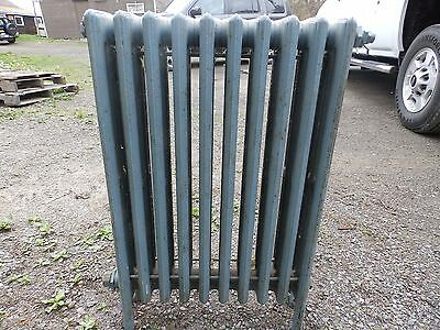 Vintage Hot Water Radiator 10 Sections Cast Iron Old Plumbing Heating 548-16