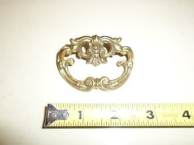 Vintage Antique Ornate Brass Drawer Pull No Screw #40