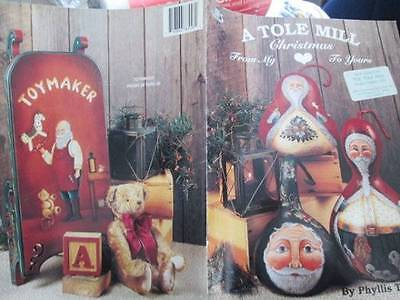 A Tole Mill Christmas Painting Book-Tilford-Santas/One Horse Open Sleigh/Three W