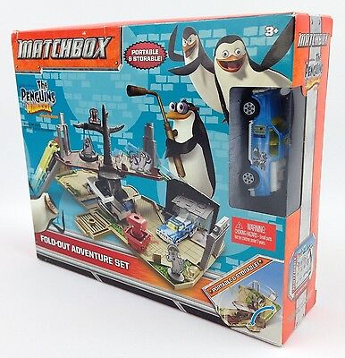 Matchbox Penguins Of Madigascar Fold-out Adventure Set - Sealed!