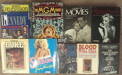 Book LOT of 10 • Celebrity Biographies + • Sinatra • John Wayne • Marilyn Monroe