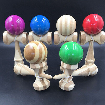 1 Pcs Kendama Japanese Traditional Game Educational Skillful Wooden Toy tu