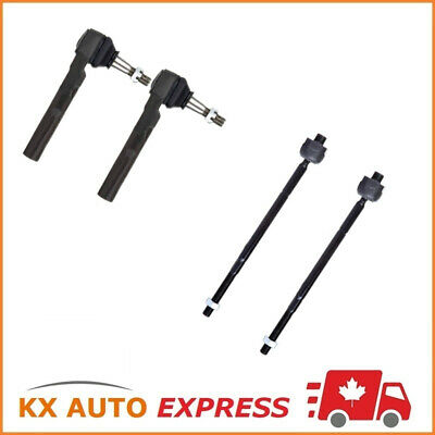 Front 2X Inner & 2X Outer Tie Rod End Kit Pontiac Montana 2006 2007 2008 2009