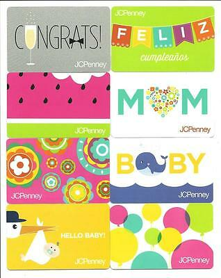 Lot (8) J C Penney Gift Cards No $ Value Collectible JC Penney Diecut Watermelon