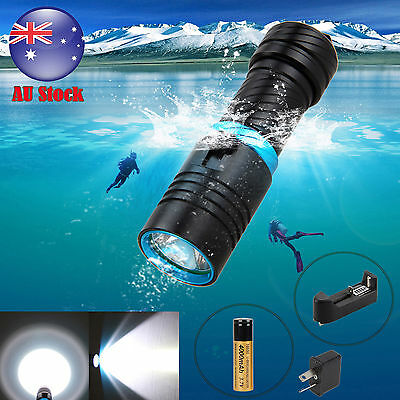 Underwater 100m Waterproof 5000LM CREE XM-L2 LED SCUBA Diving Flashlight Torch