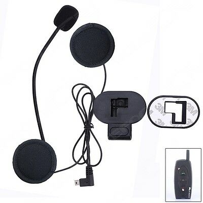 Helmet Speaker Headsets +Clip for V2 Wireless BT Bluetooth Motorcycle Intercom