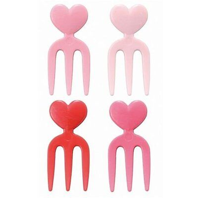 heart food picks forks for Bento Box Lunch Box