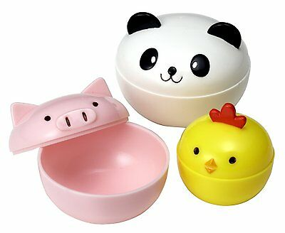 Mini Condiment Containers for Bento Box, Panda, Piggy and Chick