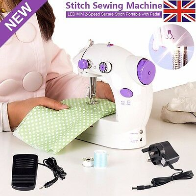 New Electric Multi-function Portable Mini Desktop Sewing Machine Handheld Kit UK