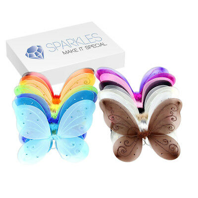 """22x15"""" Butterfly Wings - Child Party Costume Play Halloween Project - 15 Colors"""