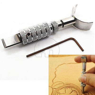 Adjustable Carving Knife Cut Blade Swivel Leather Leathercraft Working Tool