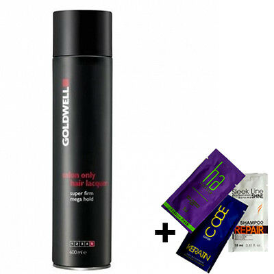 GOLDWELL SALON ONLY LACQUER Super Firm MEGA HOLD HAIRSPRAY 600ml + GIFT