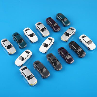 20pcs 00 Gauge 1:75 Scale Painted Model Cars for Parking Scenery Train Layout