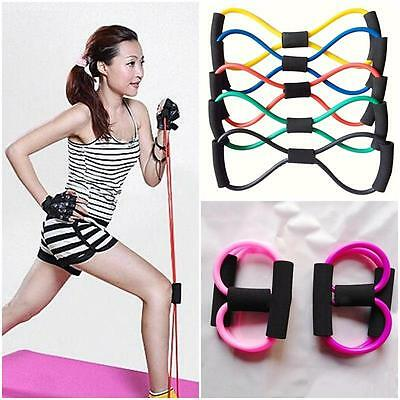 8-Shaped Yoga Training Tube Body Building Fitness Sport Tools Latex Pull Rope