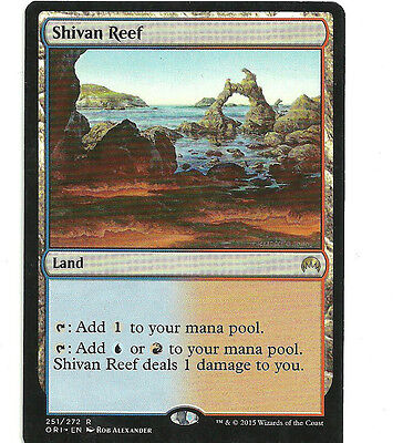 mtg Magic 1x Shivan Reef ( Arrecife shivano ) English Excellent Magic Origins