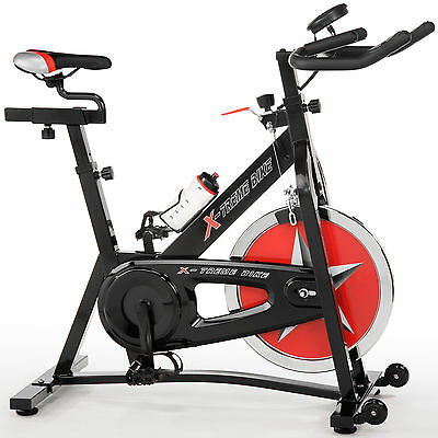 X-treme Classic Bike Black - Indoor Cycle - 18 kg Schwungmasse - Radcomputer