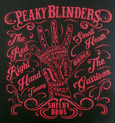 NEW PEAKY BLINDERS Thomas Shelby The Red Right Hand Inspired T Shirt Top Ladies