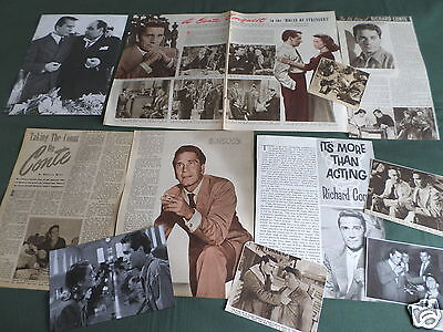 Richard Conte - Film Star - Clippings /cuttings Pack