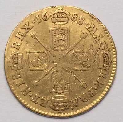 1688 James II Gold Half-Guinea coin