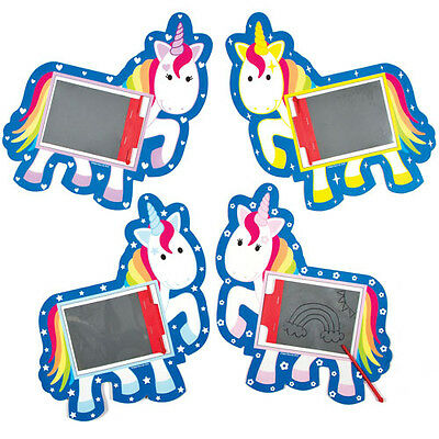 Rainbow Unicorn Magic Slates Perfect Party Bag Filler for Children (Pack of 8)