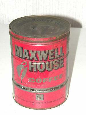 Vintage Maxwell House Coffee Can With Lid