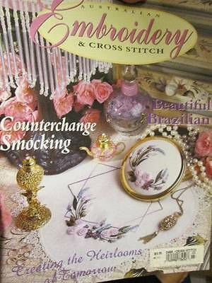 Australian Embroidery & Cross Stitch Magazine V7#3-Brazilian/Counterchange S